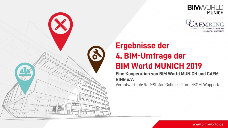 Ergebnisse der 4. BIM-Umfrage der BIM World MUNICH 2019