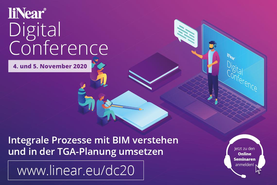 Kostenlose Onlineseminare zum Thema integrale Planung mit liNear