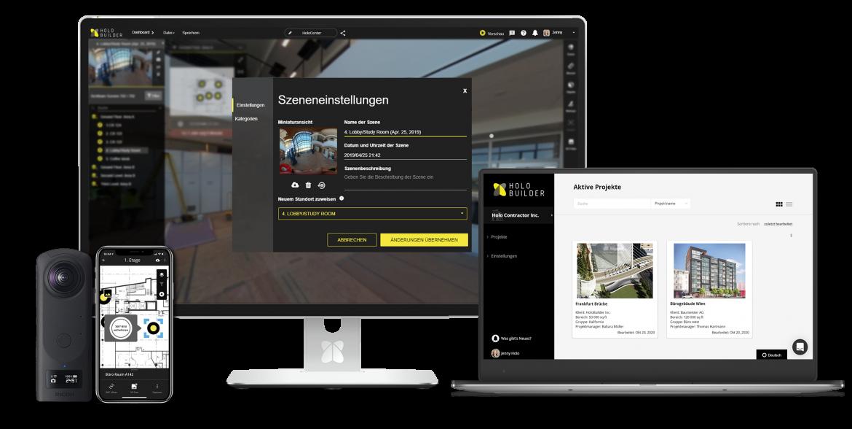 HoloBuilder Plattform für Baufortschrittsmanagement jetzt auch auf Deutsch verfügbar