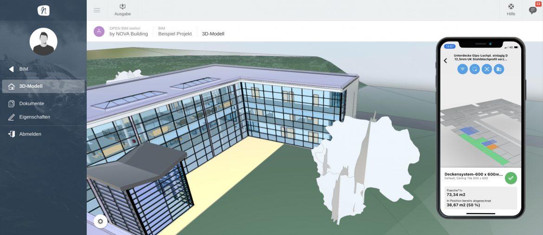 Optimale Kontrolle über den Baufortschritt - NOVA Aufmaß App mit BIM Integration